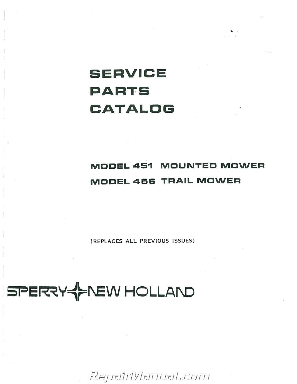 Ford New    Holland    451 Sickle Mower    Parts    Manual