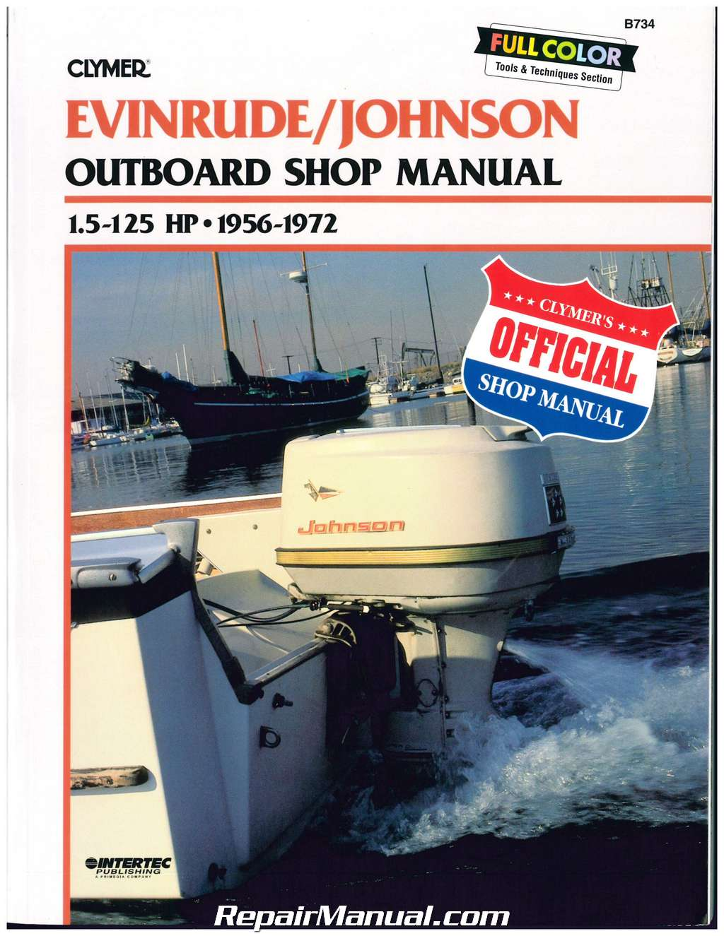 Clymer Evinrude Johnson 1 5 125 Hp 1956 1972 Outboard Boat