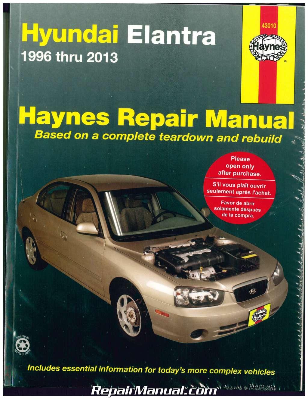 haynes hyundai elantra 1996 2013 auto repair manual rh repairmanual com Hyundai Repair Manual PDF Hyundai Sonata Repair Manual