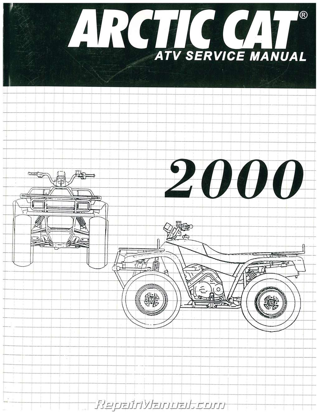 2000 Arctic Cat 250 300 400 500 ATV Service Manual