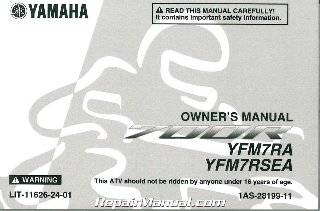 2011 yamaha yfm700 raptor 700 atv owners manual rh repairmanual com yamaha raptor 700 owners manual yamaha raptor 700 service manual free download