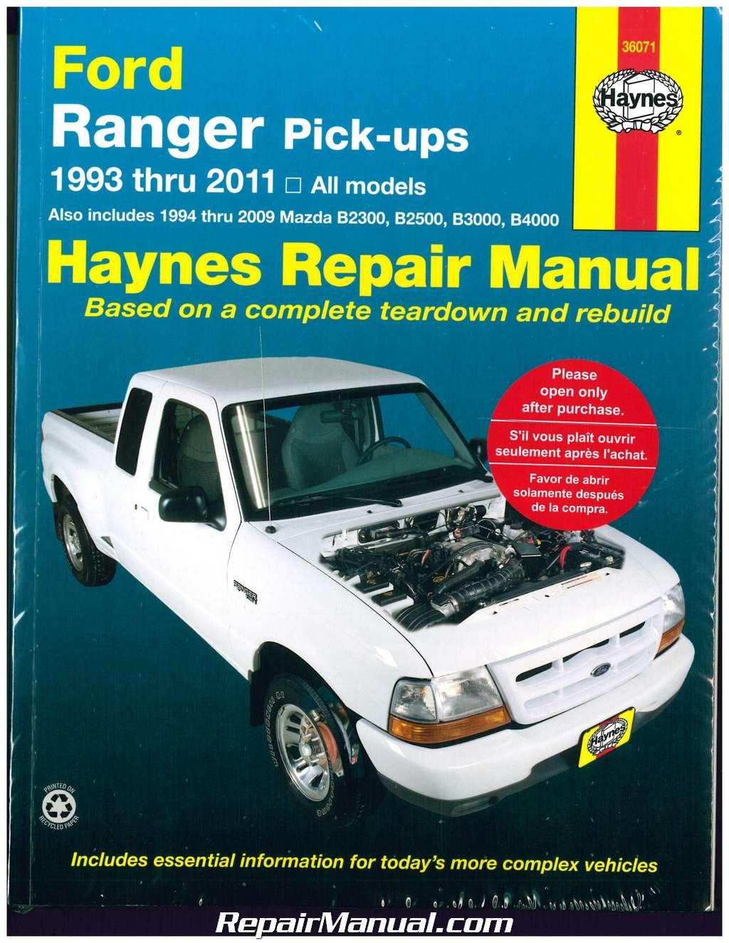 Haynes Ford Ranger Pickups 1993