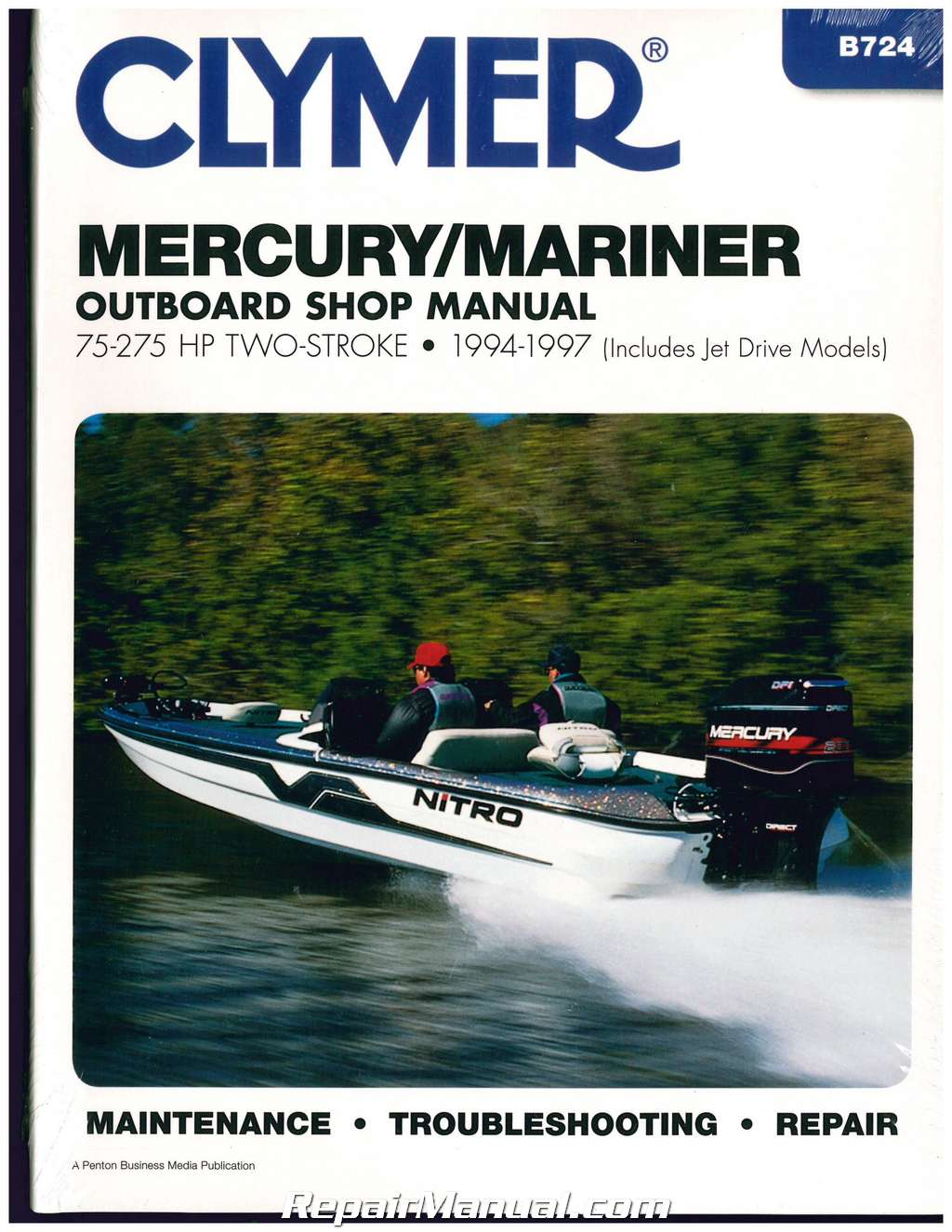 1994-1997 Mercury-Mariner 75-275 hp Outboard Boat Engine Repair Manual