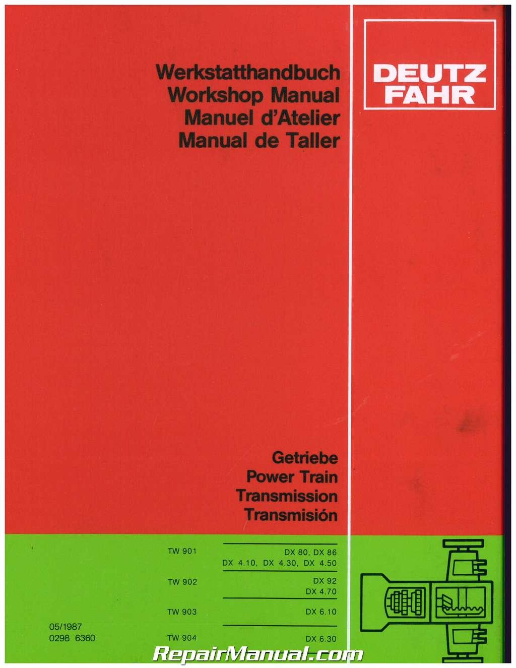 deutz allis model dx120 transmission service manual rh repairmanual com Deutz Diesel Parts List Deutz Repair Manual