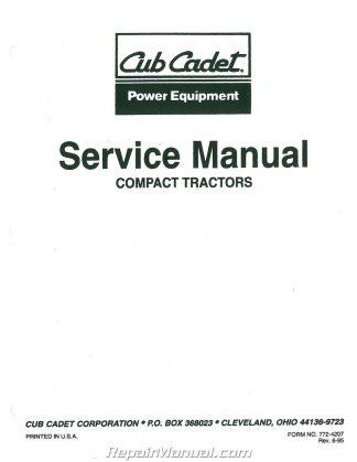 Cub Cadet 7000 Series Compact Tractor Parts Manual Form 772 4206