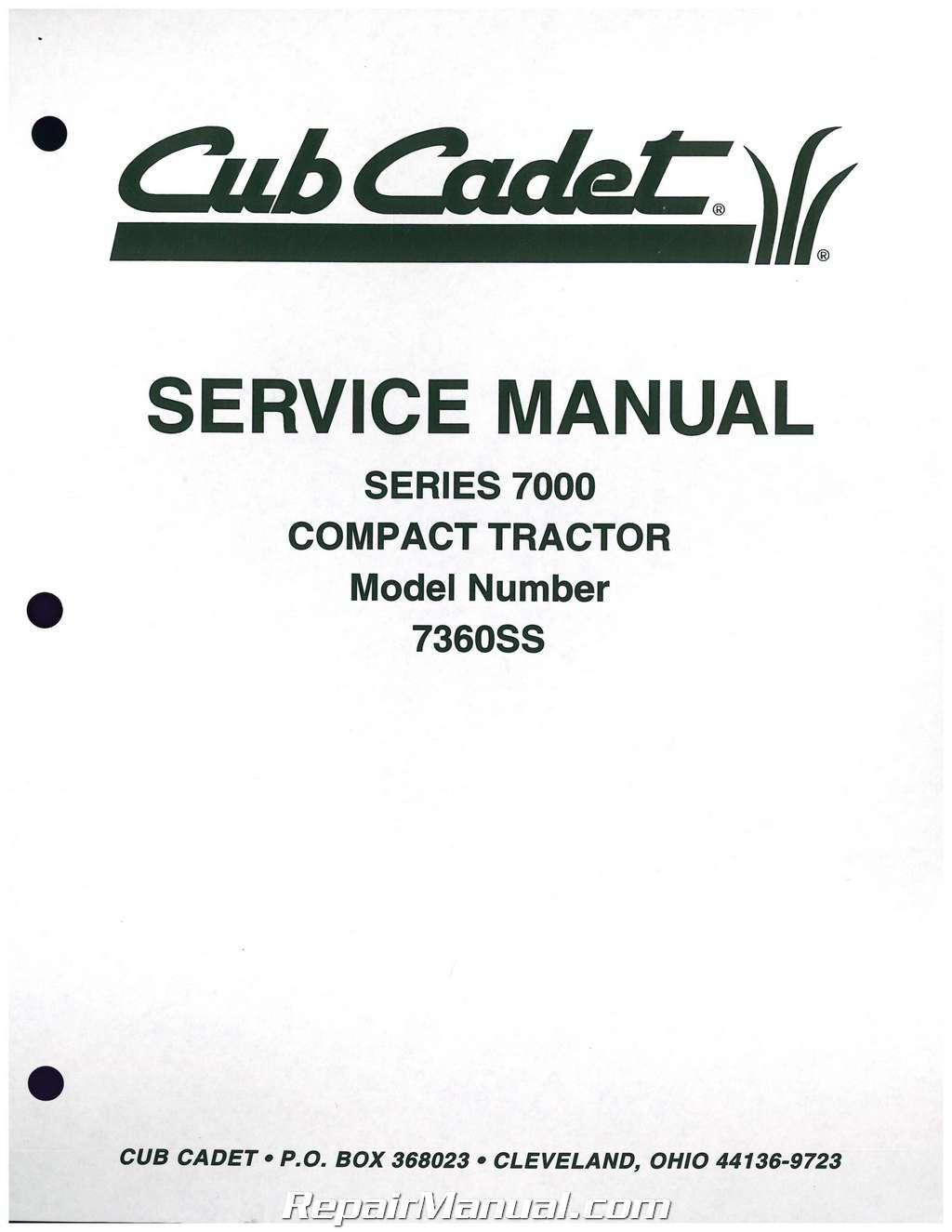 cub cadet series wiring diagram cub cadet  cub cadet 7000 series compact tractor service manual form 772 4207