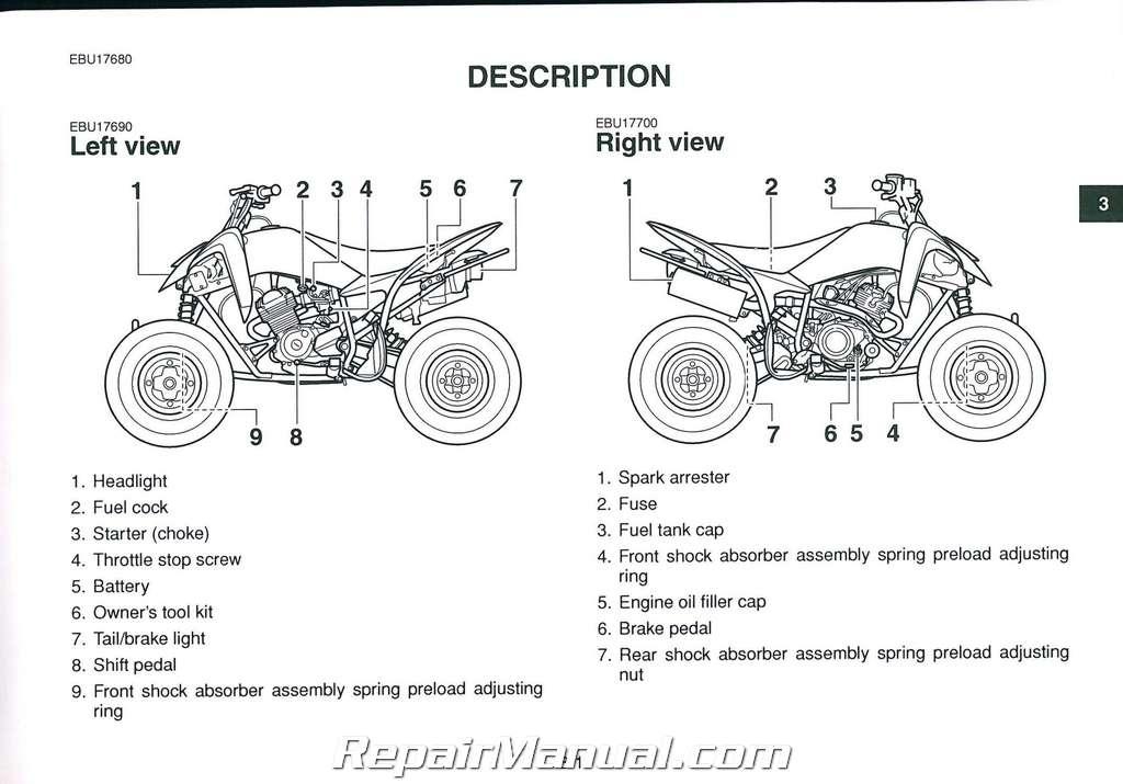 2011 yamaha yfm125 raptor atv owners manual