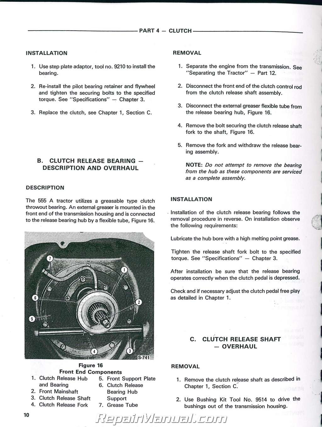 ford 555a 555b 655a tractor loader backhoe printed service manual rh repairmanual com Ford 555D Backhoe Manual Bradco Backhoe Manuals