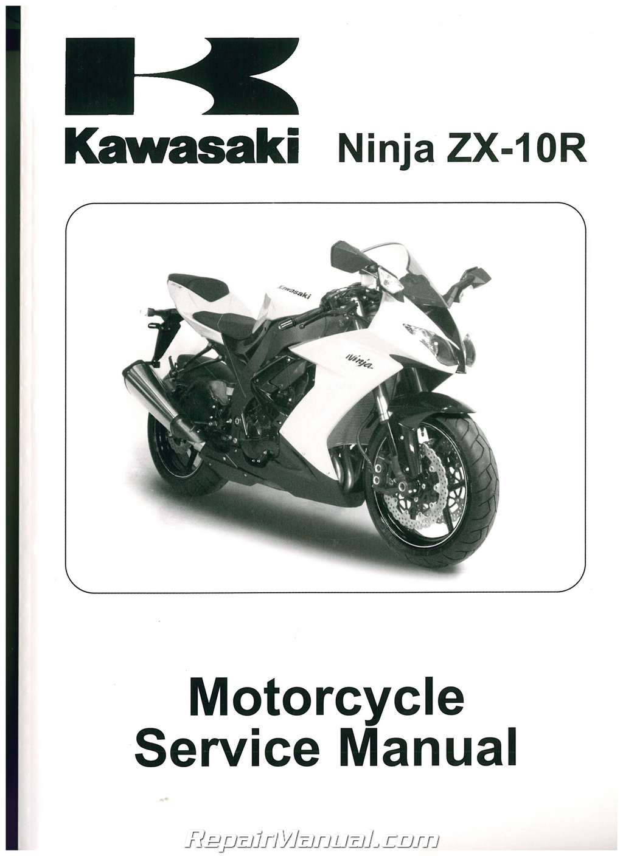 2008 2010 kawasaki ninja zx10r zx1000e printed motorcycle service manual rh repairmanual com 2012 zx10r service manual 2010 Zx10r