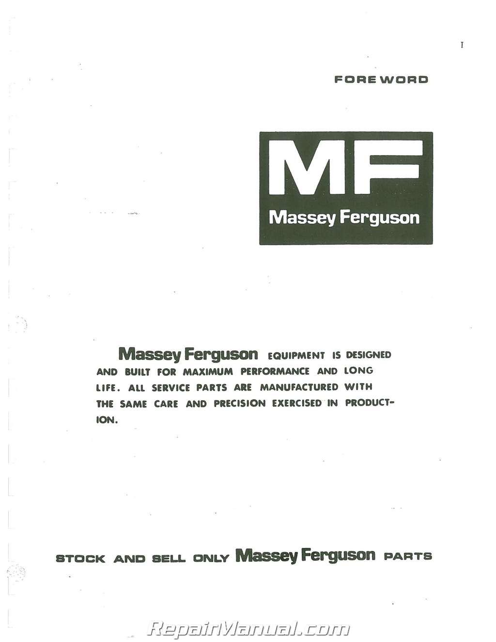 massey ferguson 245 parts manual rh repairmanual com massey ferguson 245 operator's manual Massey Ferguson 245 Orchard Tractor