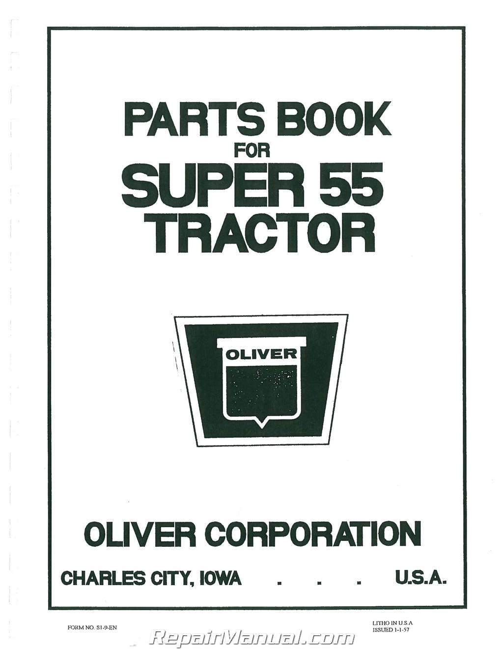 oliver super 55 parts manual rh repairmanual com oliver super 55 owner's manual oliver super 55 owner's manual