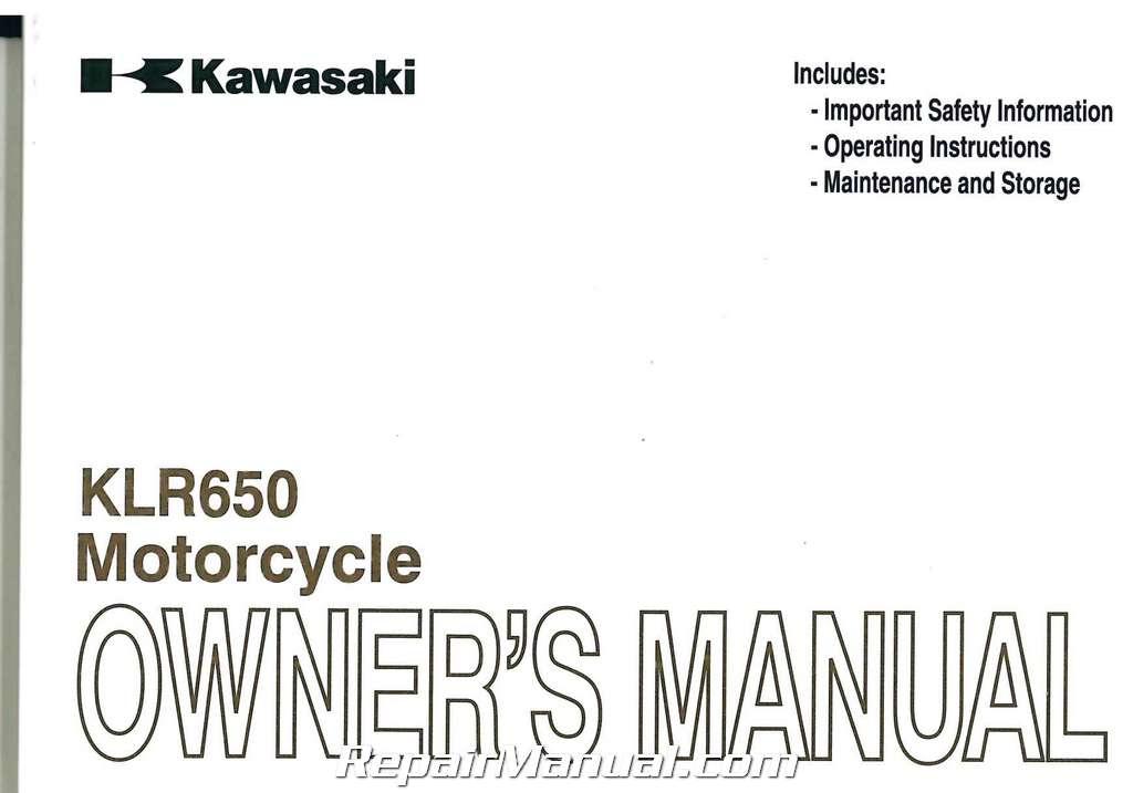 Kawasaki Klr Owners Manual
