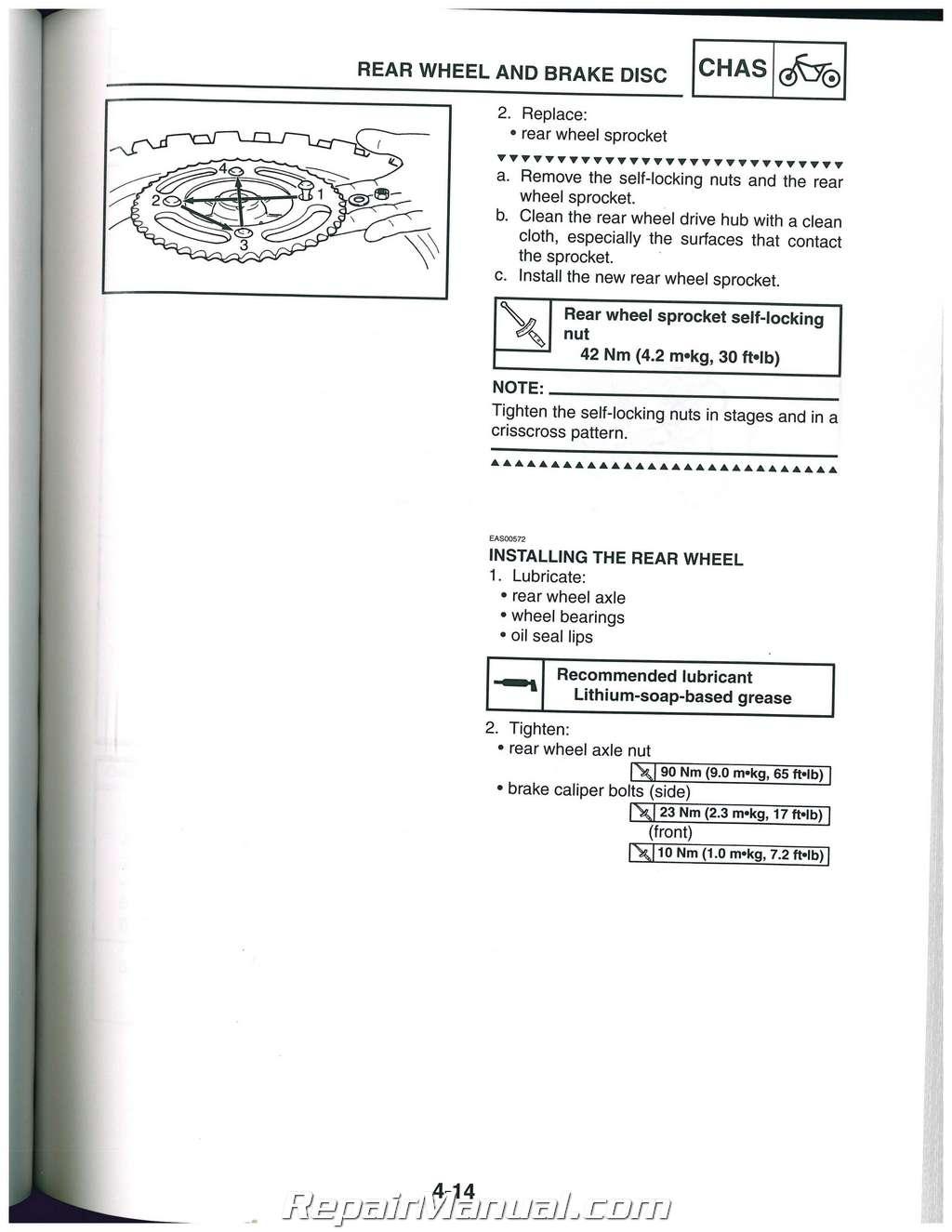 2007 2014 Yamaha Yz85 Motorcycle Service Manual