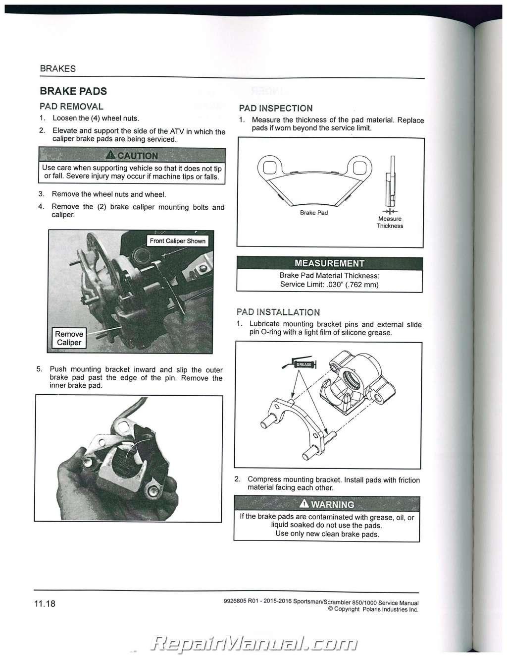 2015 2016 polaris scrambler sportsman 850 1000 atv service manual rh repairmanual com 2008 Polaris Scrambler 525 2006 Polaris Scrambler