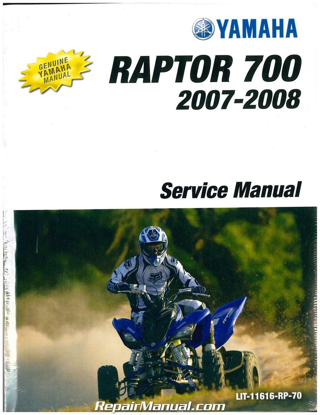 2007 2008 yamaha yfm700 raptor atv service manual. Black Bedroom Furniture Sets. Home Design Ideas