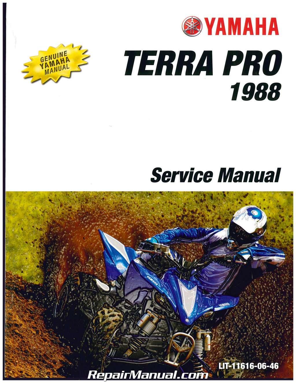 1988 yamaha yfp350 terra pro atv service manual rh repairmanual com Yamaha Terrapro 4 Wheeler Yfp Oil Yamaha Terrapro 350