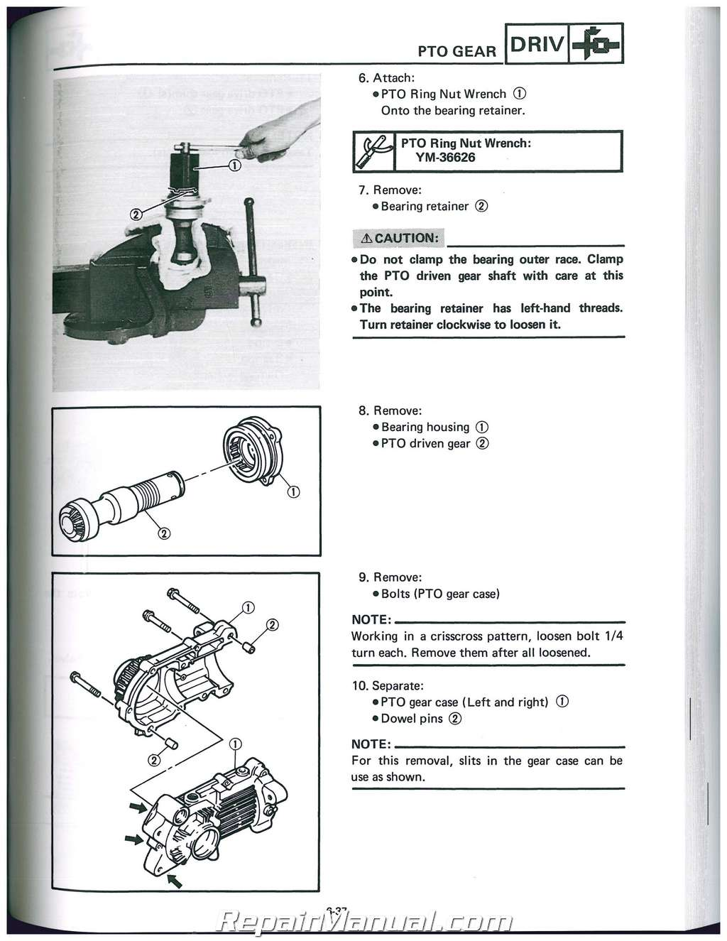 Yamaha Terrapro Service Manual