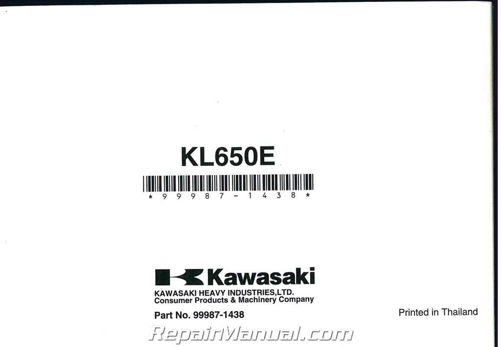 2008 kawasaki klr650 motorcycle owners manual