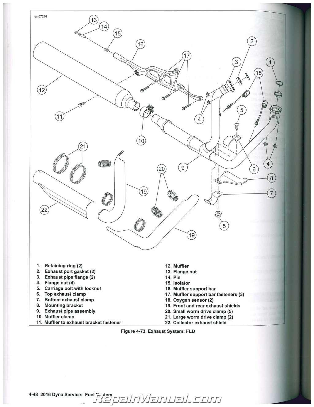 2016 harley davidson dyna motorcycle service manualharley davidson exhaust  diagram #17