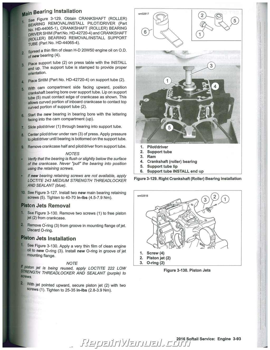 2016 Harley Davidson Softail Motorcycle Service Manual