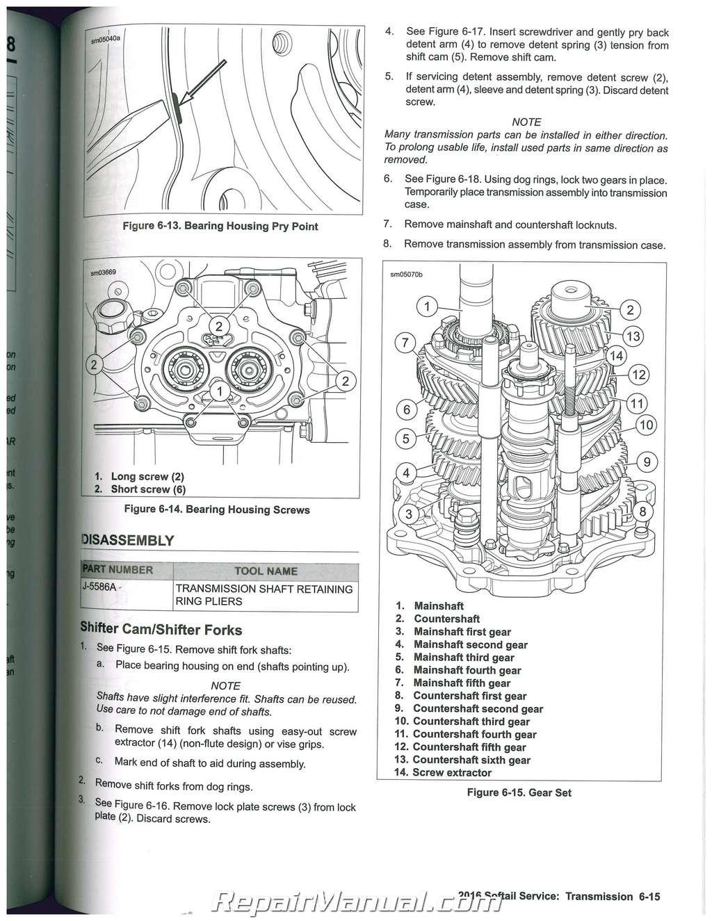 2016 Harley Davidson Softail Motorcycle Service Manual Speedometer Sensor Wiring Diagram