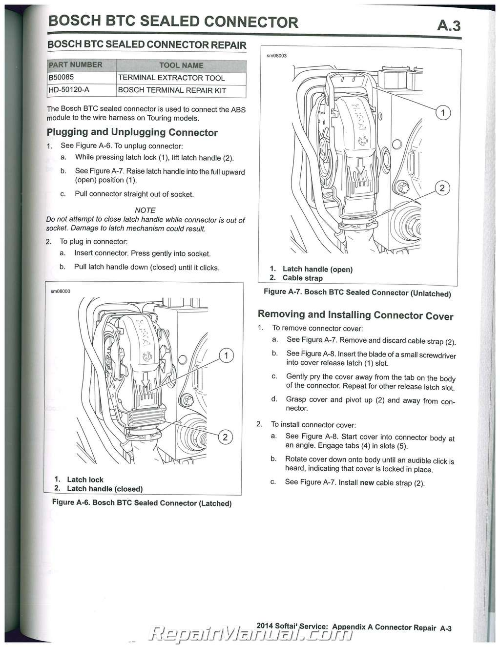 2014 Harley Davidson Softail Motorcycle Service Manual
