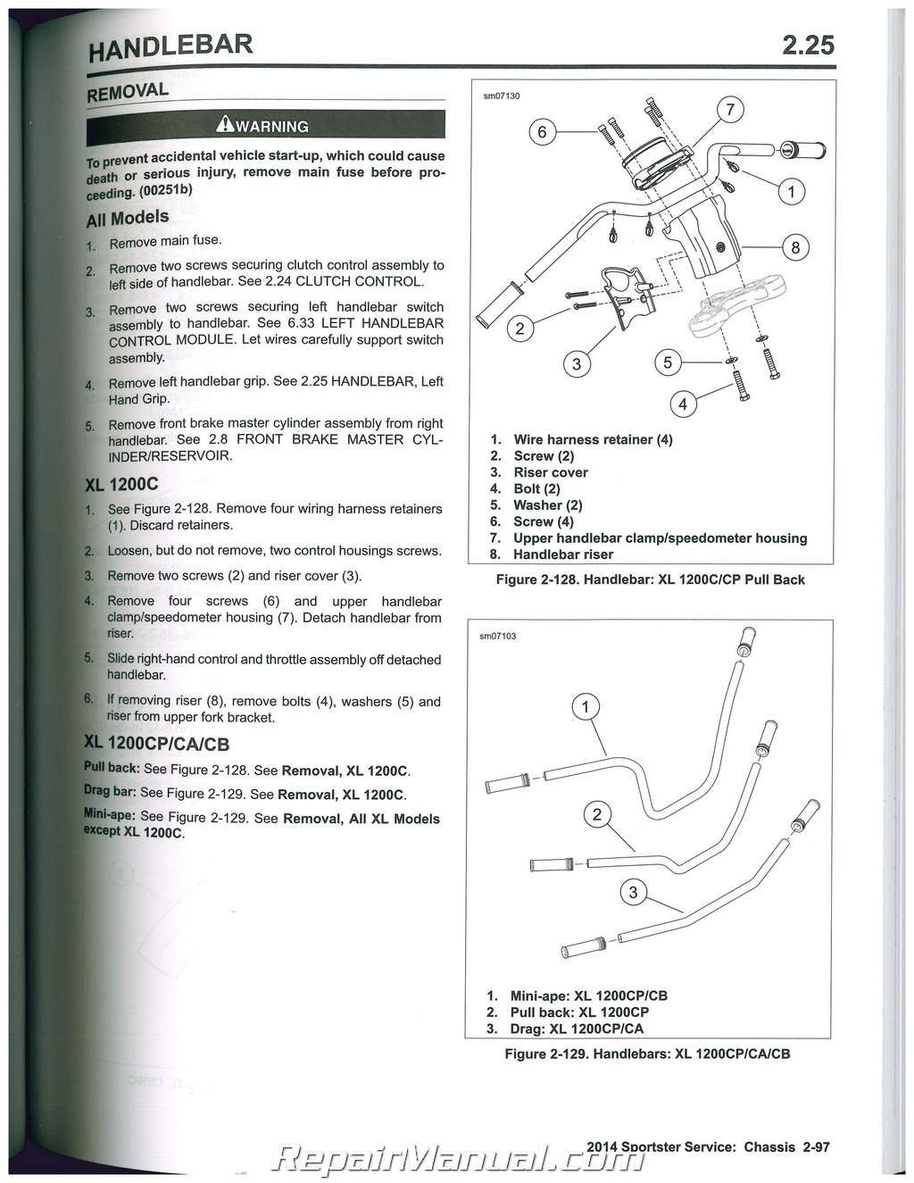 2014 Harley Davidson Sportster Motorcycle Service Manual Switch Back Wiring Diagram