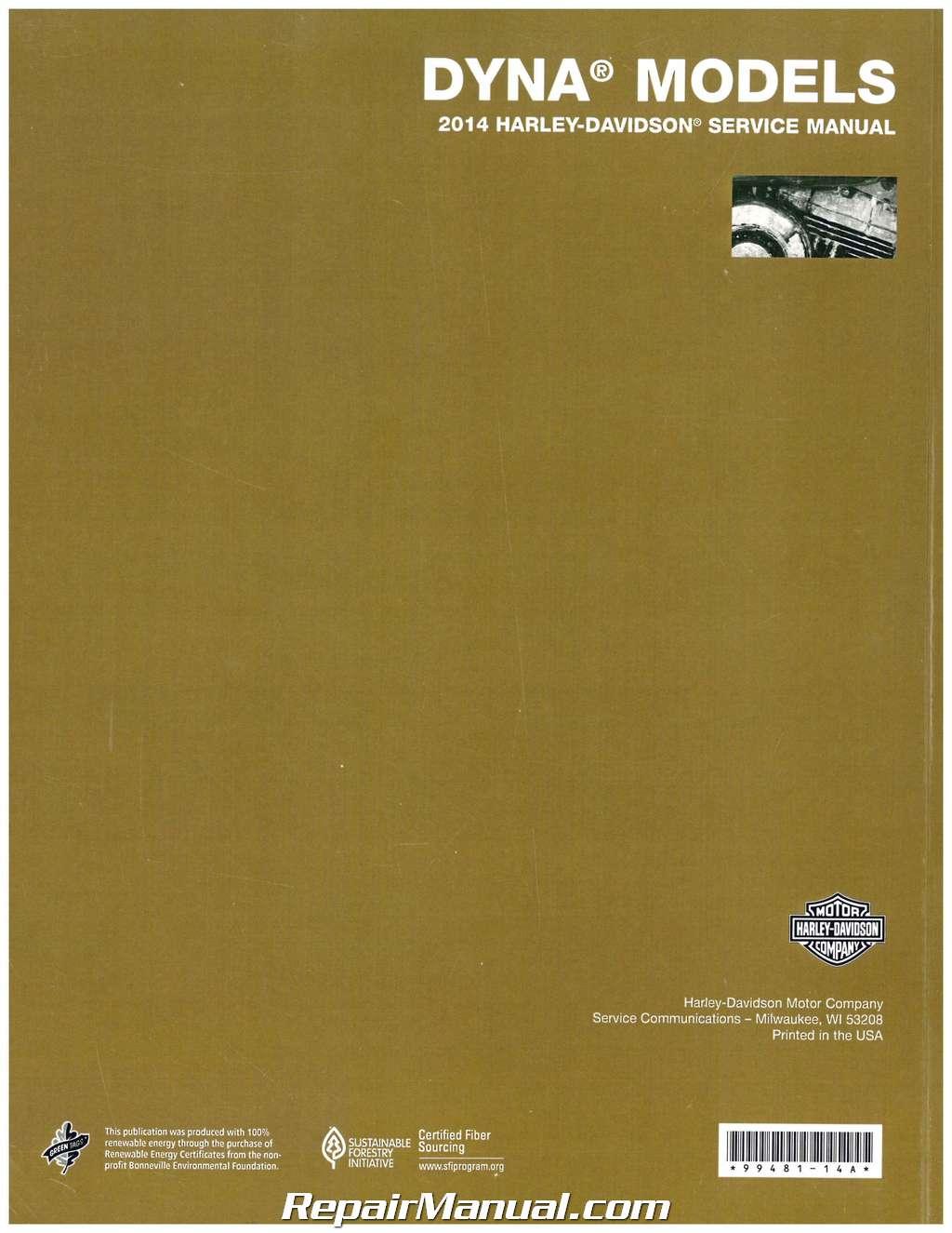 2014 harley davidson dyna service manual