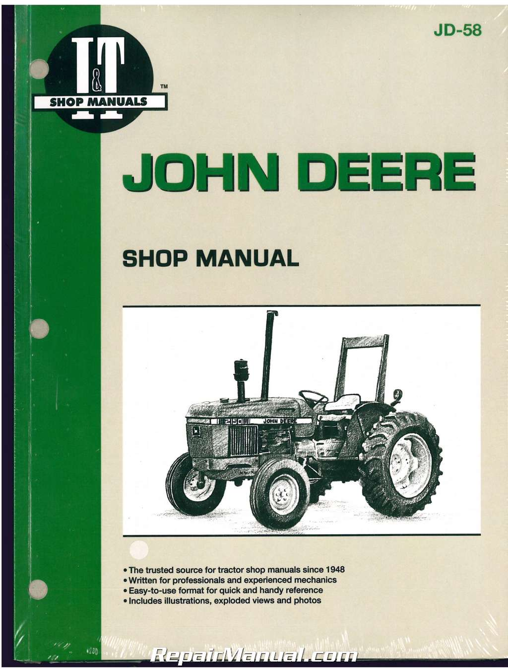 john deere 2150 \u2013 2555 tractor workshop manual John Deere 110 Wiring Diagram