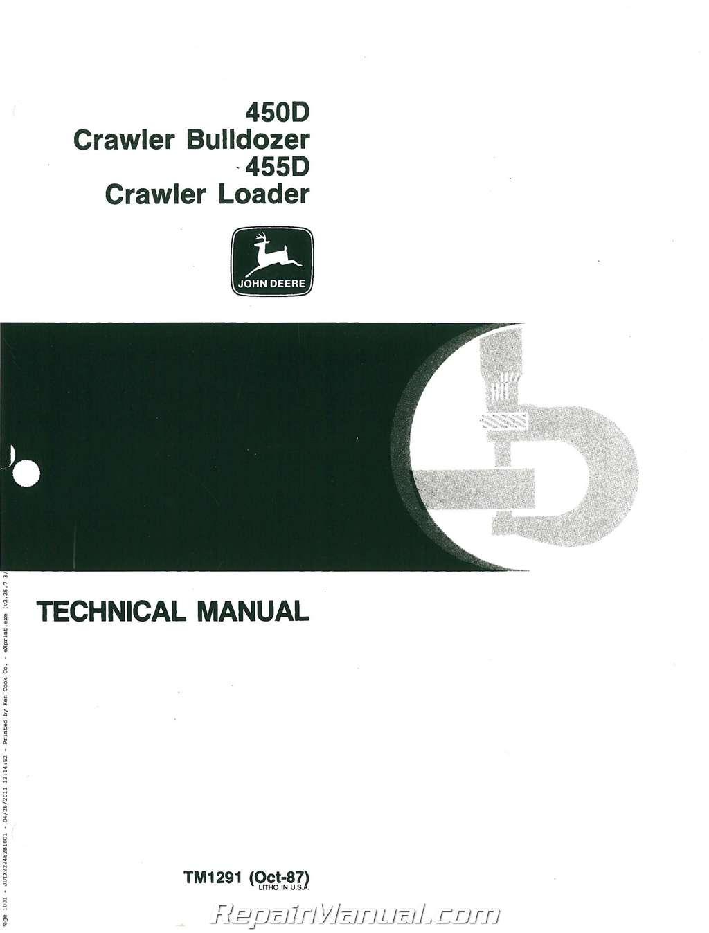 john deere 450d 455d service manual rh repairmanual com canon 450d service manual yaesu 450d service manual