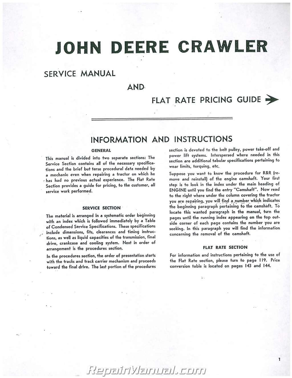 john deere mc 40c 420c 430c 4401c 4401cd crawler service manual rh repairmanual com John Deere 420 John Deere 420