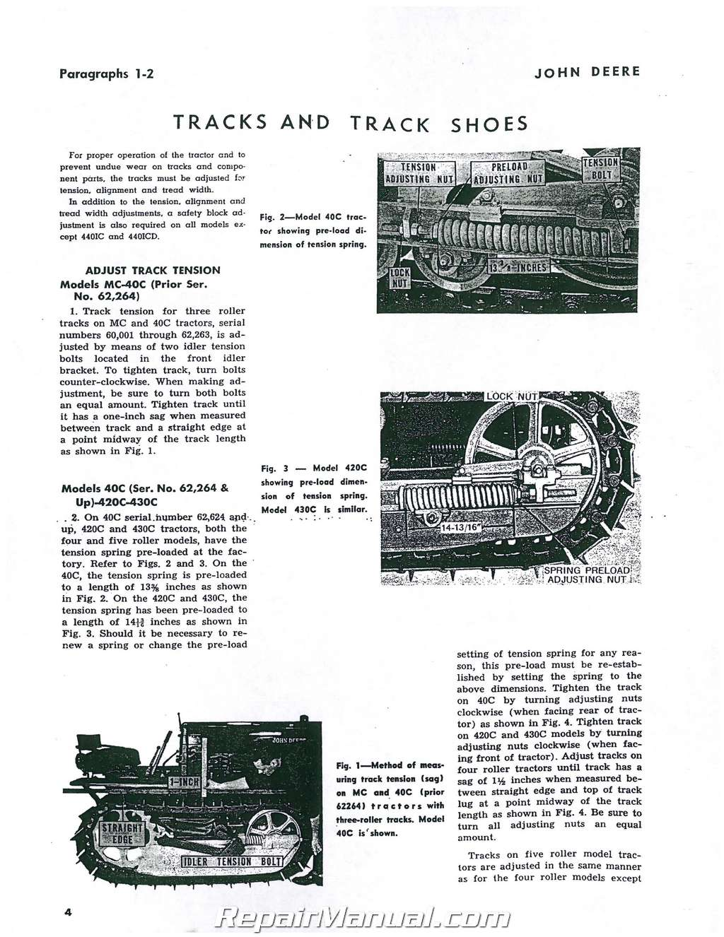 john deere mc 40c 420c 430c 4401c 4401cd crawler service manual rh repairmanual com John Deere 420 John Deere 430C