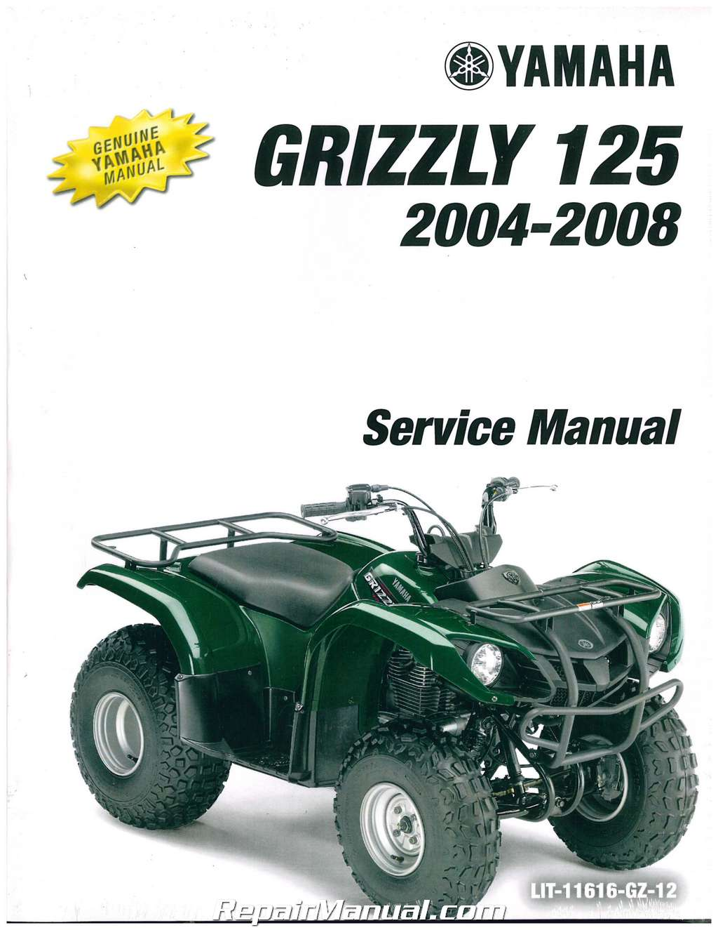 2004 2013 yamaha yfm125g grizzly 125 automatic service manual lit rh ebay com 2004 yamaha grizzly 125 owners manual yamaha grizzly 125 service manual download