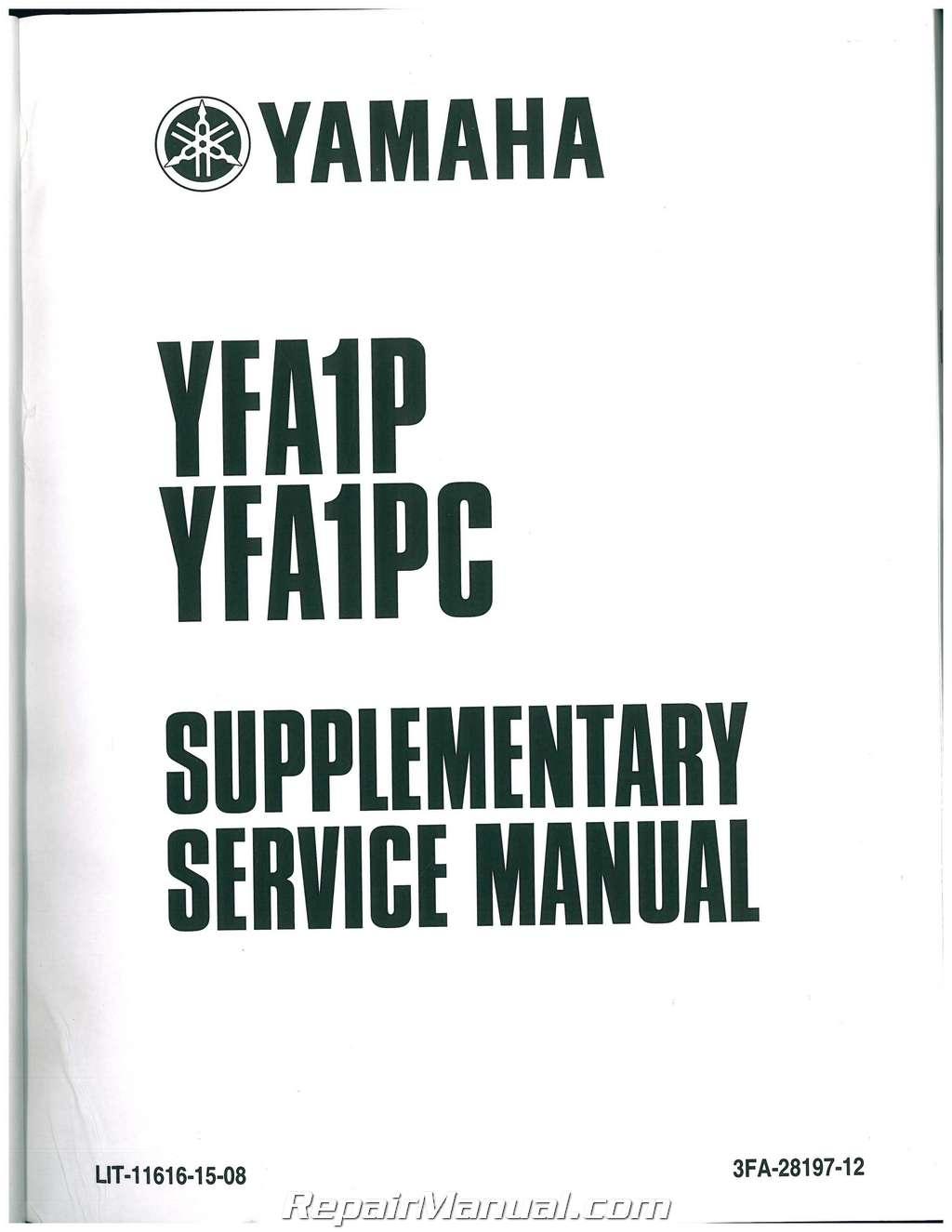 yamaha grizzly service manual pdf