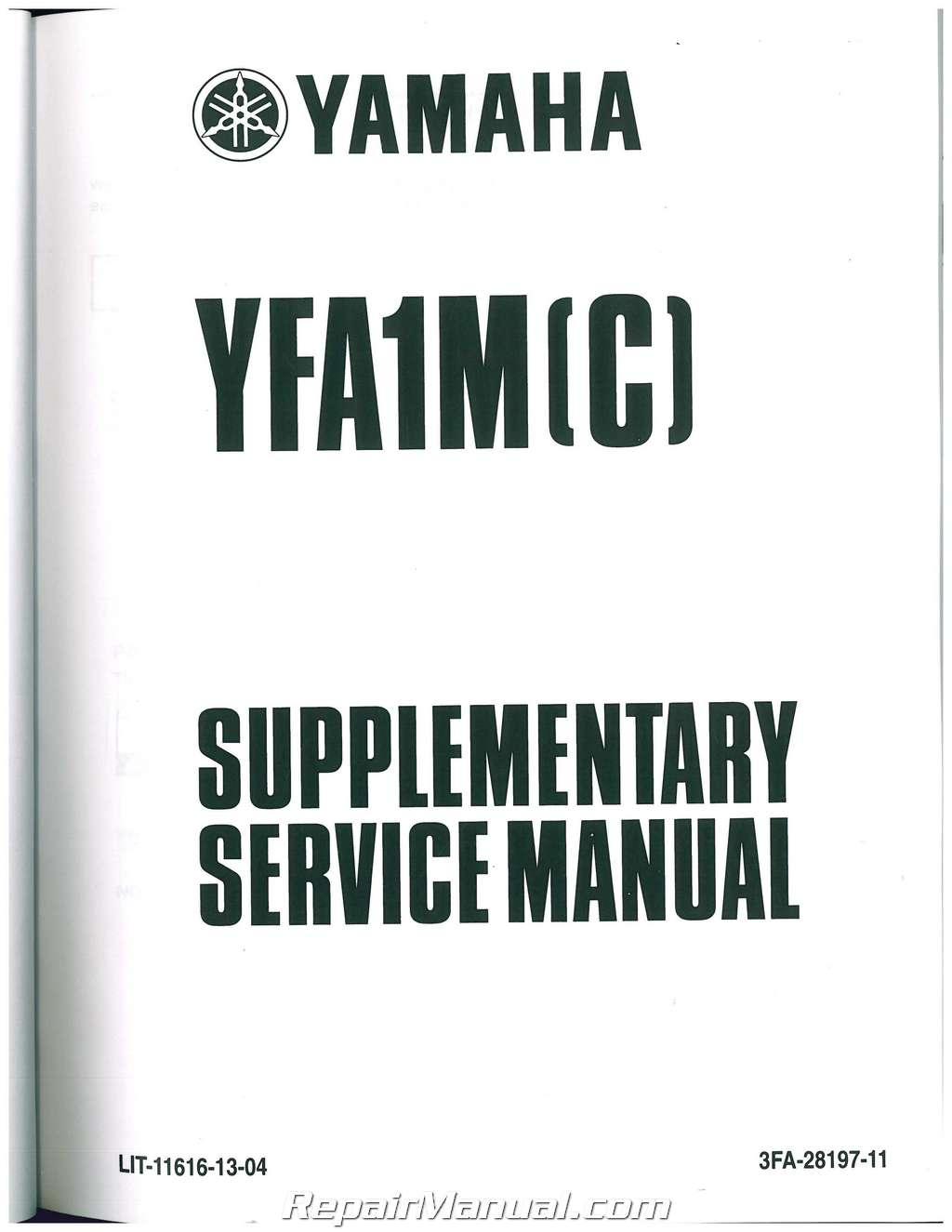 yamaha grizzly 125 service manual