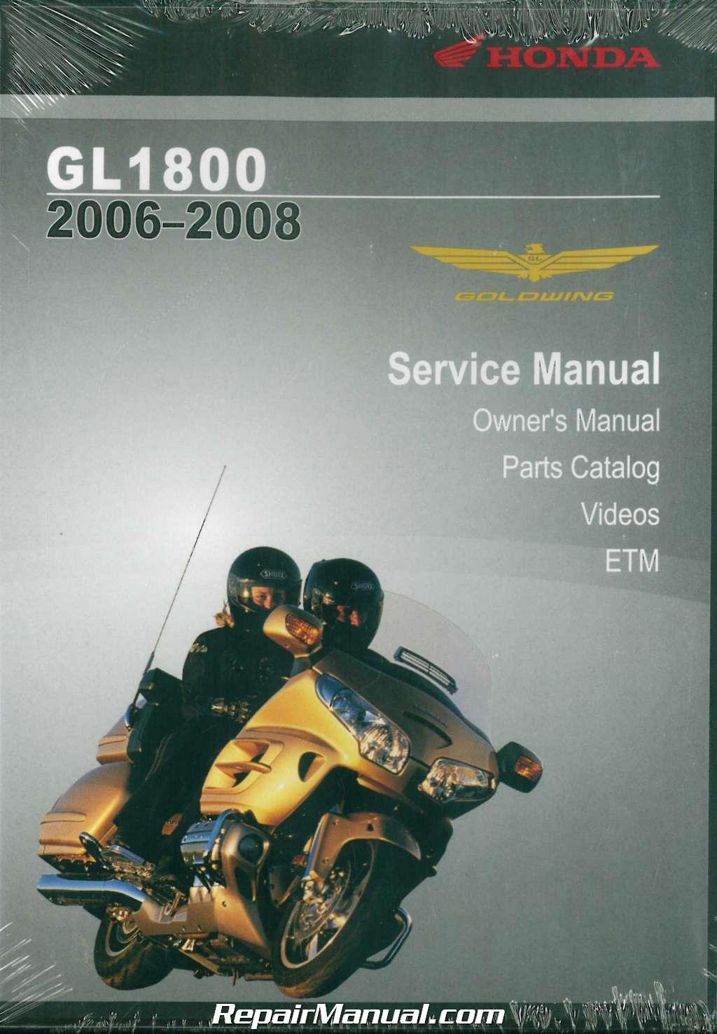 2006 2008 honda gl1800 gold wing service manual dvd rh repairmanual com 2008 honda goldwing owners manual 2006 goldwing owners manual