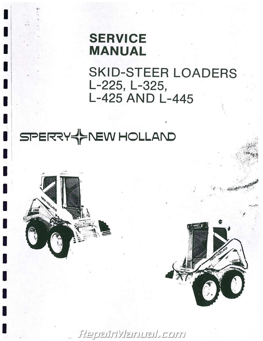 Details about Ford New Holland L225 Skid Steer Service Manual on