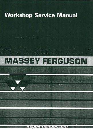 Massey Ferguson TE-20 TO-20 TO-30 Service Manual