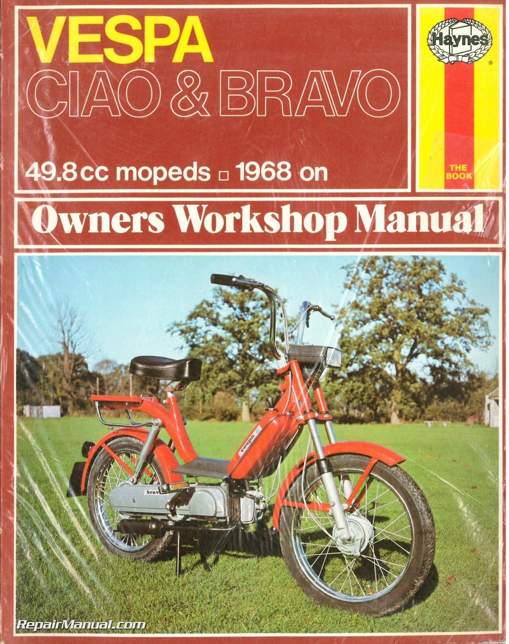 vespa ciao bravo 49cc moped owner s workshop manual 1968 on rh repairmanual com Vespa Bravo Parts Vespa Seat Bravo