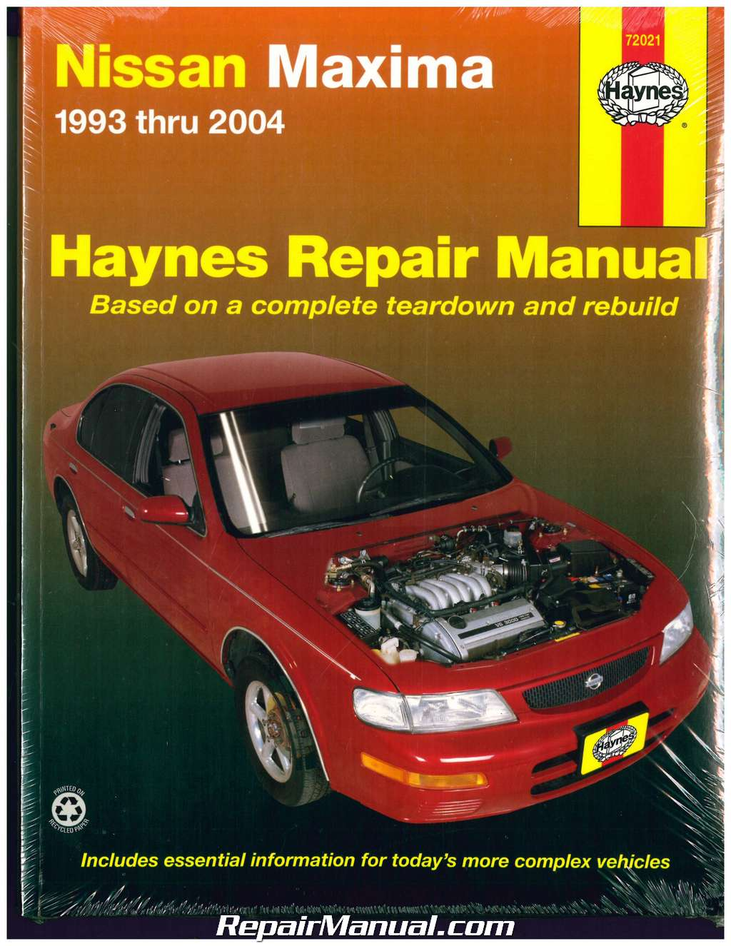 haynes nissan maxima 1993 2004 auto repair manual rh repairmanual com 2004 Nissan Maxima Engine 2004 Nissan Maxima Engine