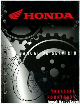 El Manual oficial del Servicio de la Fábrica de 2001-2003 Honda TRX500FA FourTrax Foreman Rubicon