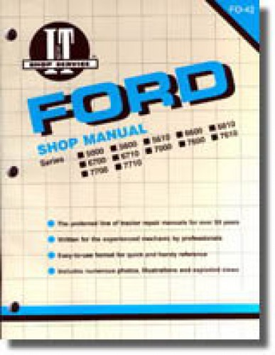 used ford new holland 5000 5600 5610 6600 6610 6700 6710 7000 7600 rh repairmanual com ford 7000 tractor wiring diagram Ford 5000 Tractor Wiring Diagram