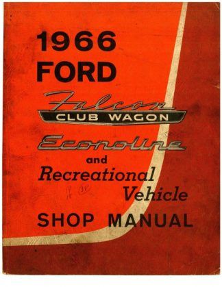Ford Falcon Club Wagon Shop Manual 1966 Used