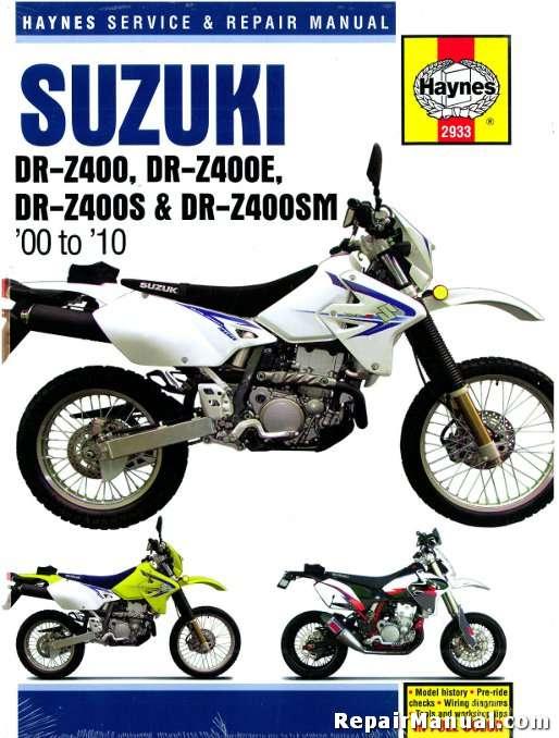 haynes 2000 2010 suzuki dr z400 e s sm motorcycle repair Kawasaki Motocross Suzuki Motocross Bikes