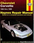 Haynes Corvette 1984-1996 Auto Repair Manual
