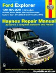 Ford Explorer Mazda Navajo & Mercury Mountaineer Automotive Repair Manual 1991-2001 Haynes