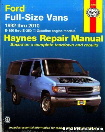 Haynes Ford Full-Size Vans 1992-2010 Repair Manual
