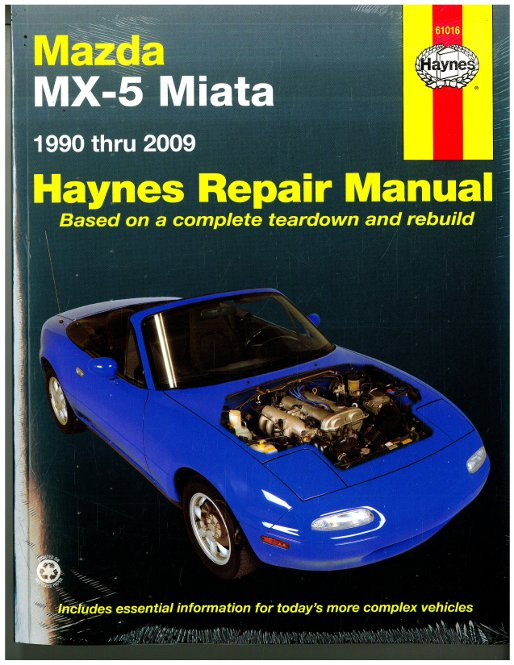 haynes mazda mx 5 miata 1990 2009 auto repair manual rh repairmanual com 1990 mazda miata owners manual pdf 1995 Mazda Miata