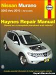 Haynes Nissan Murano 2003-2010 SUV Repair Service Manual
