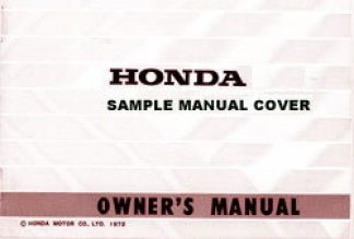 Sample Honda Owners Manual